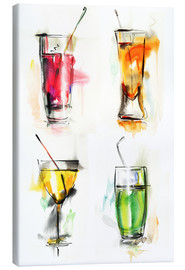 Canvas print  Colourful Drinks