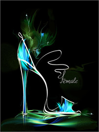 Acrylic print  Blacklight High Heel