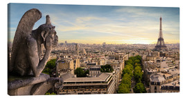 Canvas print  View over Paris from Notre Dame