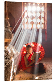 Acrylic print  Young monk in Bagan, Myanmar