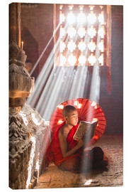Canvas print  Young monk in Bagan, Myanmar