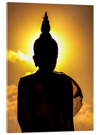 Acrylic print  Silhouette of Buddha in the temple