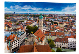 Acrylic print  Aerial view of Munich