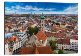 Aluminium print  Aerial view of Munich