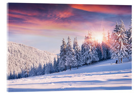 Acrylic print  Photographer in winterwonderland