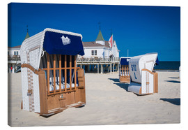 Canvas print  Beach chairs on the beach of Usedom in Ahlbeck