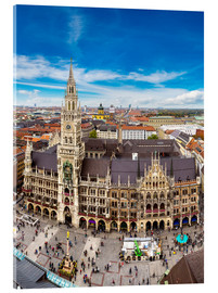 Acrylic print  Aerial view on the Marienplatz in Munich