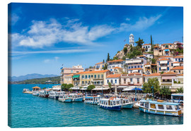 Canvas print  Poros Island on a summer day