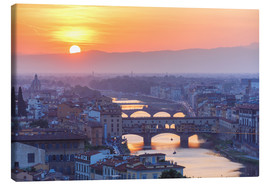 Canvas print  Florence at sunset