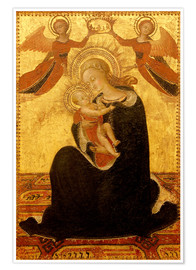 Premium poster Madonna and Child with Angels