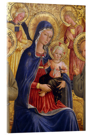 Acrylic print  Madonna and Child with St. Francis and Bernardine - Bartolomeo Caporali