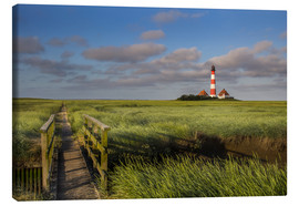 Canvas print  Lighthouse in the salt marshes on the North Coast