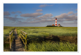 Premium poster  Lighthouse in the salt marshes on the North Coast