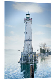 Acrylic print  beautiful lighthouse at Lindau