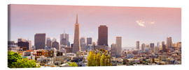 Canvas print  San Francisco Skyline Red - Michael Rucker