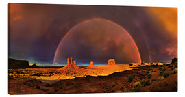 Canvas print  Monument Valley Rainbow - Michael Rucker