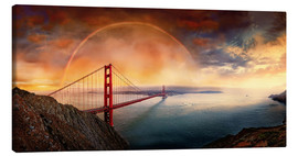 Canvas print  Frisco Golden Gate Rainbow - Michael Rucker