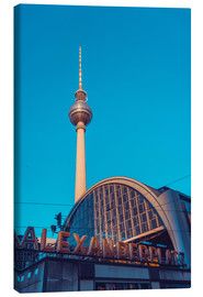 Canvas print  Railroad station Alexanderplatz