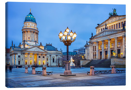 Canvas print  Gendarmenmarkt square with street lamp