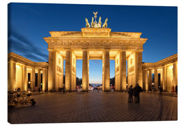 Canvas print  Brandenburg gate at dusk