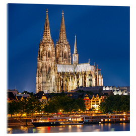 Acrylic print  Night view of Cologne Cathedral