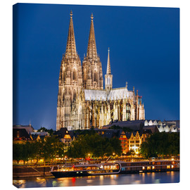 Canvas print  Night view of Cologne Cathedral