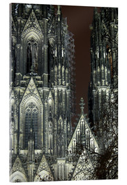 Acrylic print  Detail of Cologne Cathedral