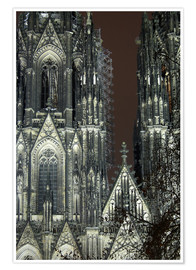 Premium poster  Detail of Cologne Cathedral