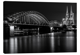 Canvas print  Cologne Cathedral and bridge