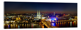 Acrylic print  A panoramic view of cologne at night