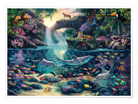 Premium poster  Jungle Paradise - Steve Read