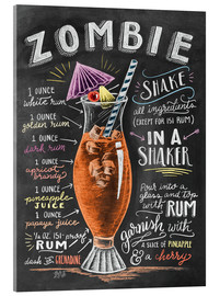 Acrylic print  Zombie Cocktail recipe - Lily & Val