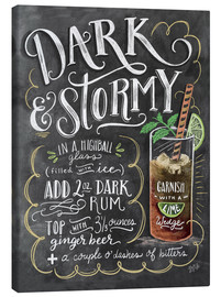 Canvas print  Dark & Stormy cocktail recipe - Lily & Val