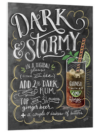 Foam board print  Dark & Stormy cocktail recipe - Lily & Val