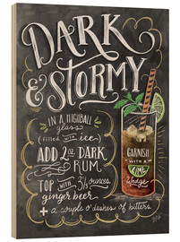 Wood print  Dark & Stormy cocktail recipe - Lily & Val