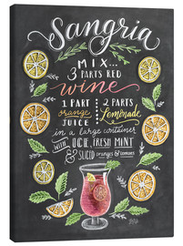Canvas print  Sangria recipe - Lily & Val