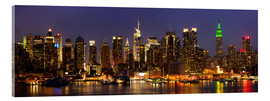 Acrylic print  Illuminated night skyline, New York