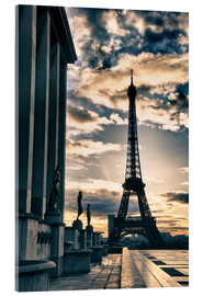 Acrylic print  Colors of Eiffel Tower in Winter