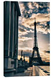 Canvas print  Colors of Eiffel Tower in Winter