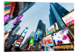 Acrylic print  Times Square - most popular spot in New York