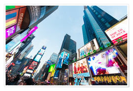 Premium poster  Times Square - most popular spot in New York