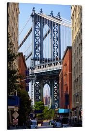 Aluminium print  Manhattan Bridge and Empire State Building