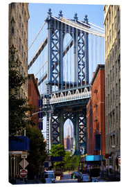Canvas print  Manhattan Bridge and Empire State Building