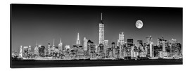 Aluminium print  Manhattan Skyline at Dusk