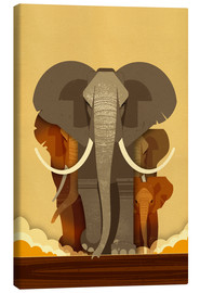 Canvas print  Elephants - Dieter Braun