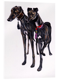 Acrylic print  Brindle greyhounds - Jim Griffiths