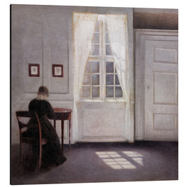 Aluminium print  Interior with sunlight on the floor - Vilhelm Hammershøi