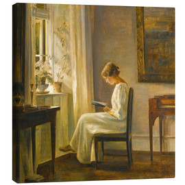 Canvas print  Woman reading - Carl Holsøe
