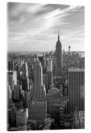 Acrylic print  Sunset view of Manhattan