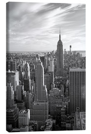 Canvas print  Sunset view of Manhattan